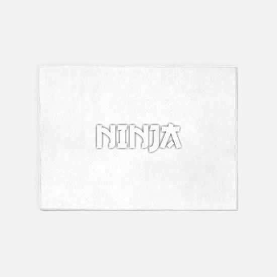 Ninja - White 5'x7'Area Rug