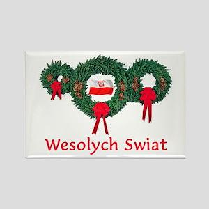 Poland Christmas 2 Rectangle Magnet