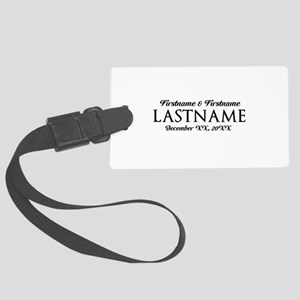 Wedding Favor Black Large Luggage Tag