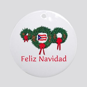 puerto rico christmas 2 ornament round - Puerto Rican Christmas Decorations