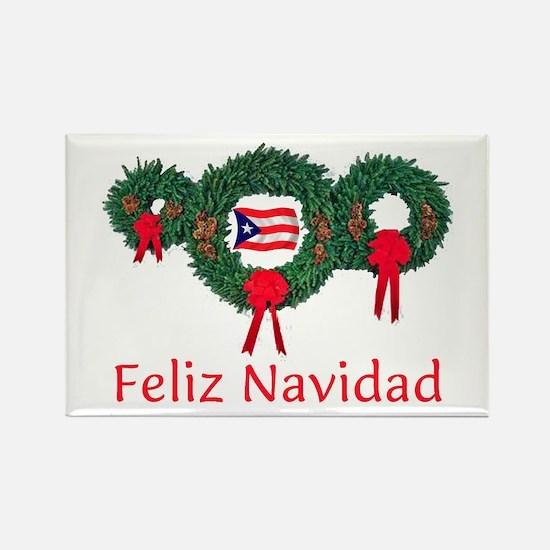 Puerto Rico Christmas 2 Rectangle Magnet