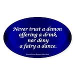 LaLa's Faeryland Oval Sticker