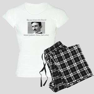 Nikola Goddamn Tesla Women's Light Pajamas