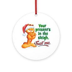 TRUST ME Ceramic Ornament (Round)