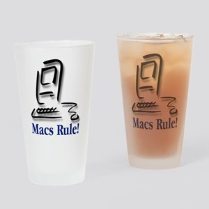Macs Rule! Drinking Glass