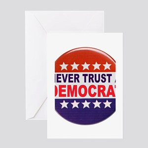 DEMOCRAT POLITICAL BUTTON Greeting Card