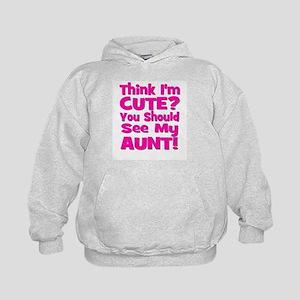 Think I'm Cute? Aunt Pink Kids Hoodie