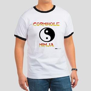 Cornhole Ninja Ringer T