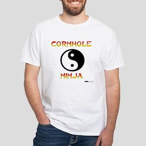Cornhole Ninja White T-Shirt