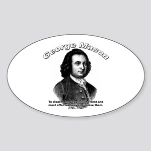 George Mason 06 Oval Sticker