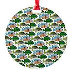 School of Sunfish fish Round Ornament