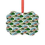 School of Sunfish fish Picture Ornament