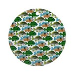 School of Sunfish fish Ornament (Round)
