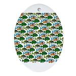 School of Sunfish fish Ornament (Oval)