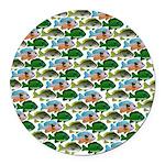School of Sunfish fish Round Car Magnet