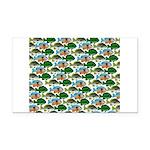 School of Sunfish fish Rectangle Car Magnet