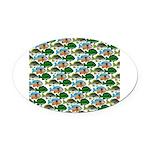 School of Sunfish fish Oval Car Magnet