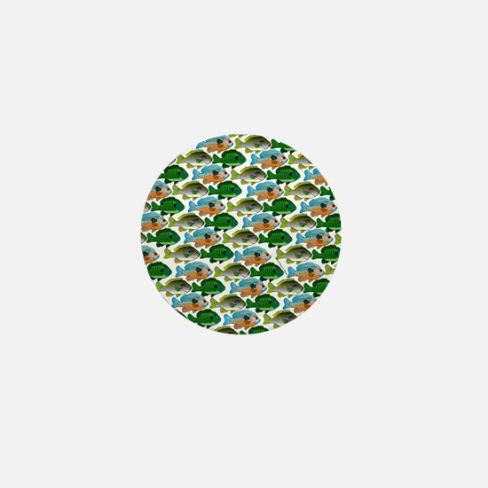 School of Sunfish fish Mini Button