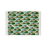 School of Sunfish fish Rectangle Magnet (100 pack)
