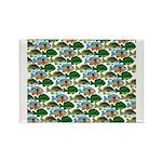 School of Sunfish fish Rectangle Magnet