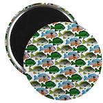 School of Sunfish fish Magnet