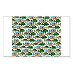 School of Sunfish fish Sticker (Rectangle 50 pk)