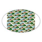 School of Sunfish fish Sticker (Oval 10 pk)