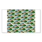 School of Sunfish fish Sticker (Rectangle)