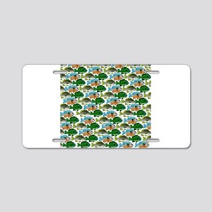 School of Sunfish fish Aluminum License Plate