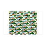 School of Sunfish fish 35x21 Wall Decal