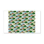 School of Sunfish fish 20x12 Wall Decal