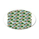 School of Sunfish fish 35x21 Oval Wall Decal