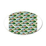 School of Sunfish fish 20x12 Oval Wall Decal