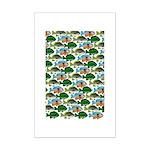 School of Sunfish fish Mini Poster Print