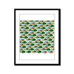 School of Sunfish fish Framed Panel Print