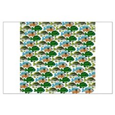 School of Sunfish fish Large Poster