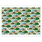 School of Sunfish fish Small Poster
