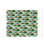 School of Sunfish fish Postcards (Package of 8)