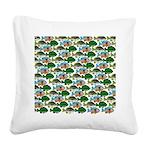 School of Sunfish fish Square Canvas Pillow