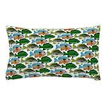 School of Sunfish fish Pillow Case