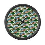 School of Sunfish fish Large Wall Clock