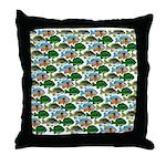 School of Sunfish fish Throw Pillow