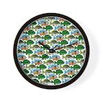 School of Sunfish fish Wall Clock