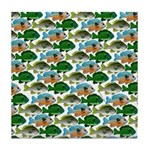 School of Sunfish fish Tile Coaster