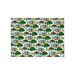 School of Sunfish fish 5'x7'Area Rug