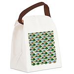 School of Sunfish fish Canvas Lunch Bag