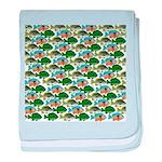 School of Sunfish fish baby blanket