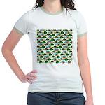 School of Sunfish fish Jr. Ringer T-Shirt