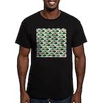 School of Sunfish fish Men's Fitted T-Shirt (dark)