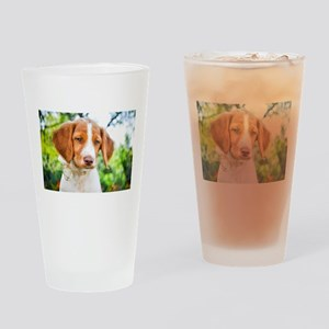 Brittany Puppy Drinking Glass